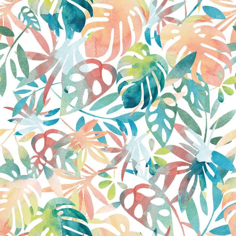 Jungle Leaves Light canvas doek