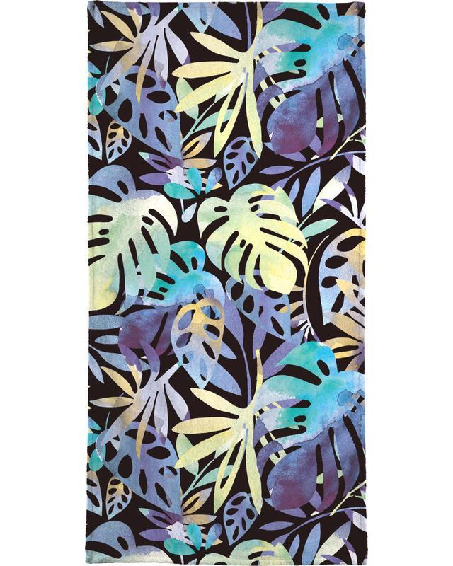 Jungle Leaves Dark -Handtuch