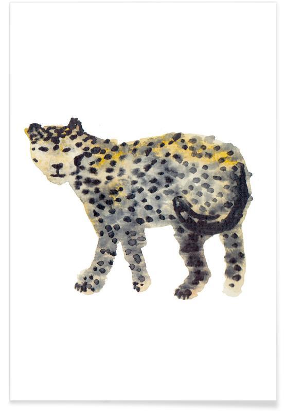 Leoparden, Kinderzimmer & Kunst für Kinder, Leopard I -Poster