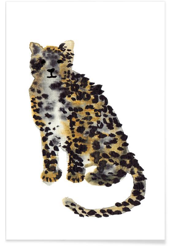 Leoparden, Kinderzimmer & Kunst für Kinder, Leopard II -Poster