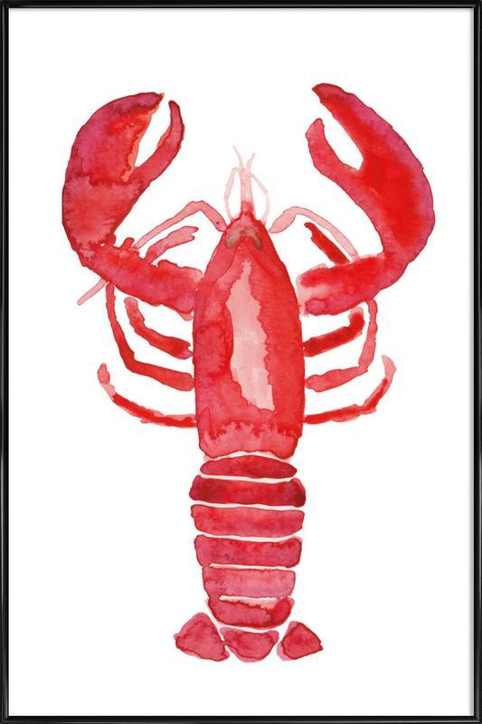 Lobster -Bild mit Kunststoffrahmen