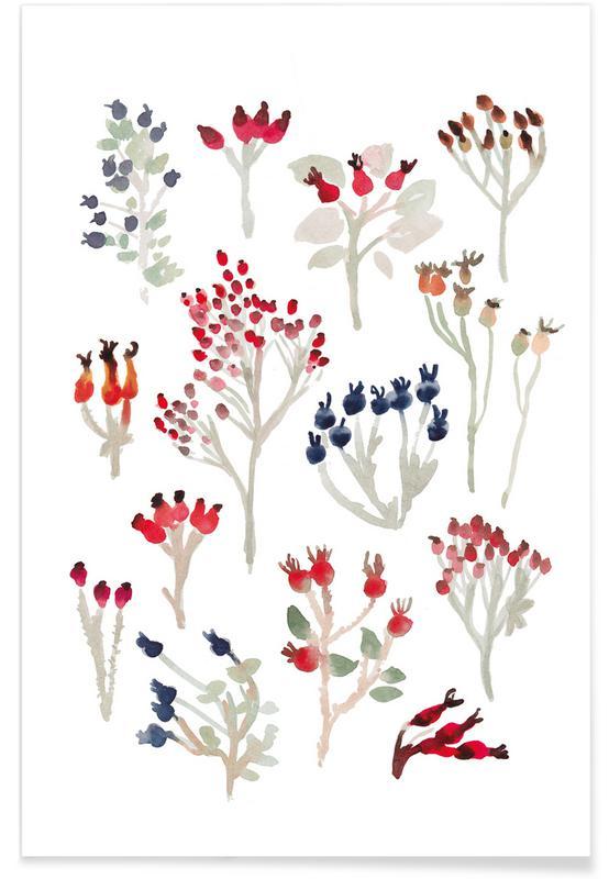 Baies, Berries affiche