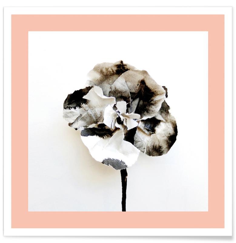 , Paper Flower II poster