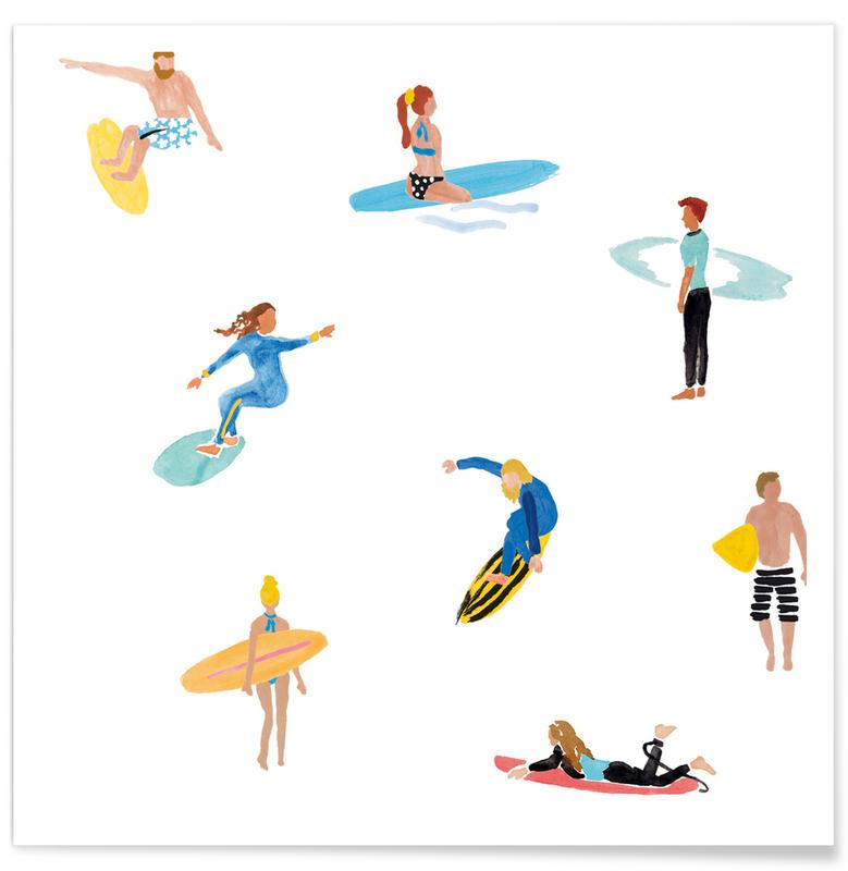 Surfing, Surf People Poster