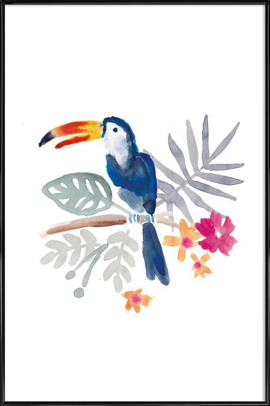 Toucan Jungle -Bild mit Kunststoffrahmen