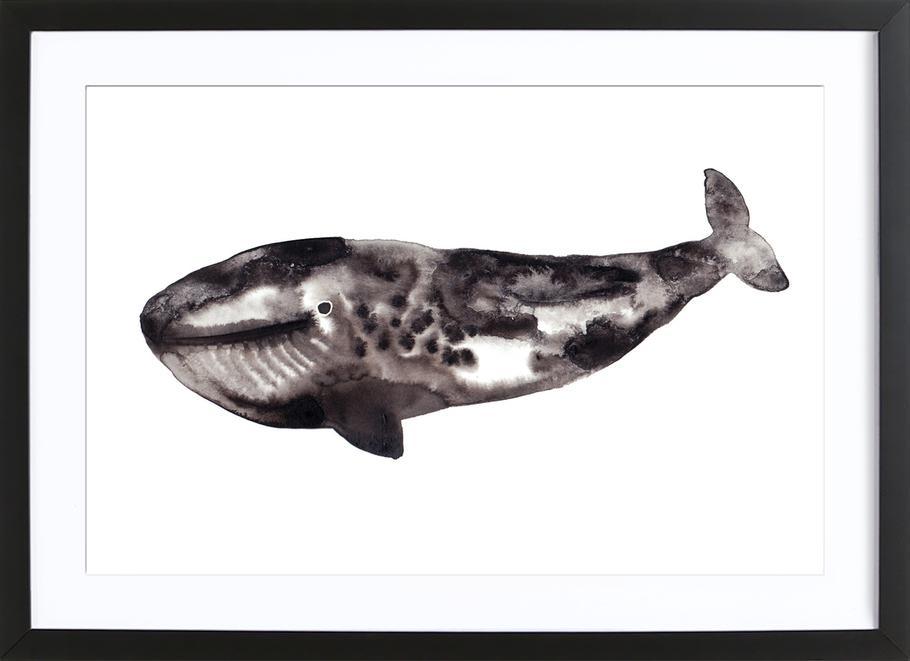 Whale ingelijste print
