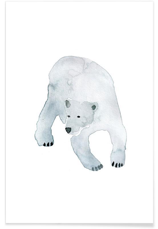 Ours, Art pour enfants, Eisbär affiche