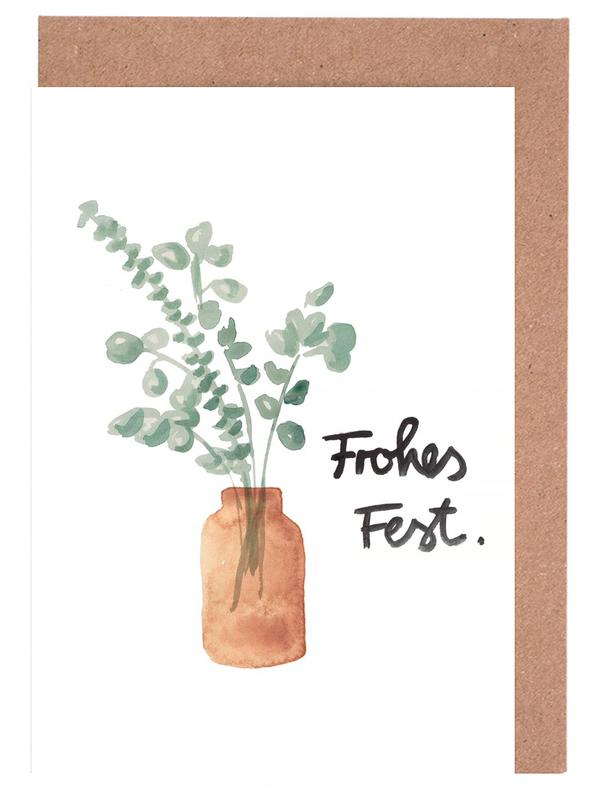Eukalyptus Vase -Grußkarten-Set