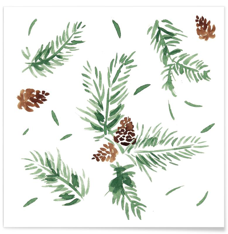 Christmas, Leaves & Plants, Tannenzweige Poster