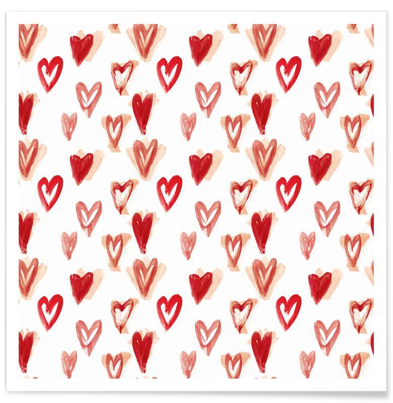 Harten, Patronen, Raining Hearts poster