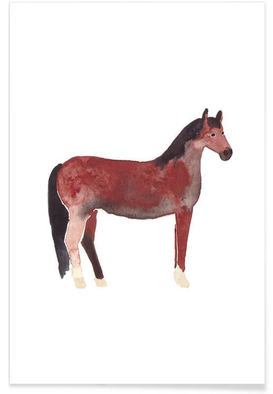 Paarden, Kunst voor kinderen, Horse poster