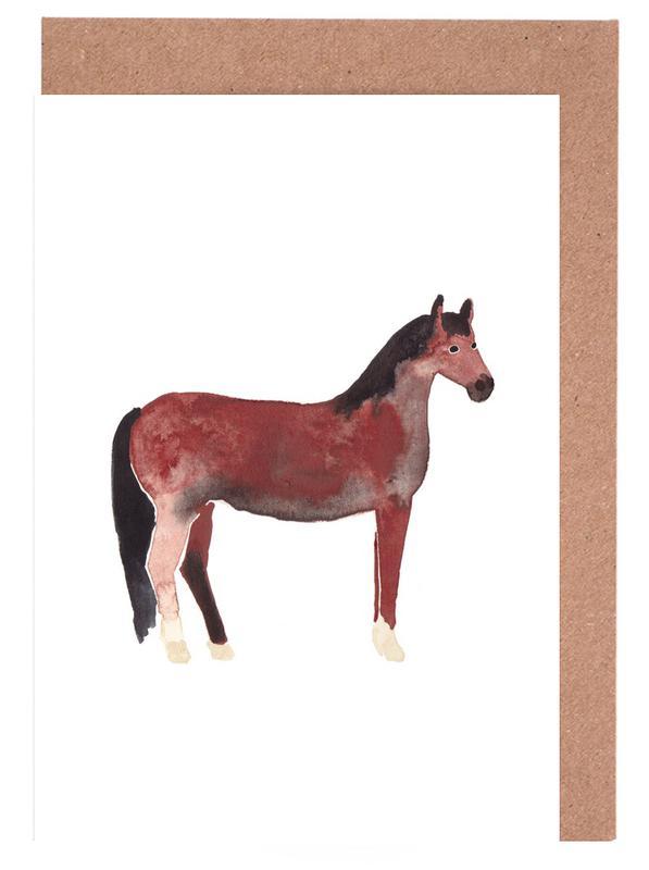 Horse -Grußkarten-Set