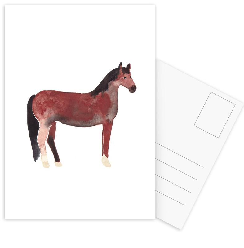 Horse -Postkartenset