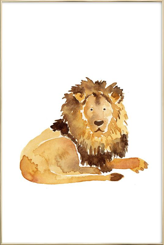 Lion -Poster im Alurahmen