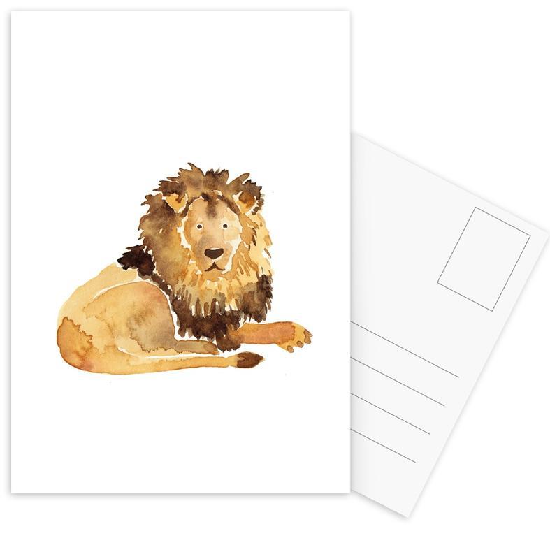 Löwen, Kinderzimmer & Kunst für Kinder, Lion -Postkartenset