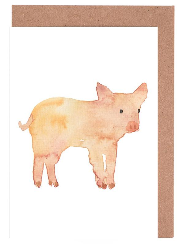Pig Greeting Card Set
