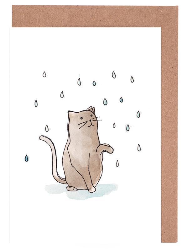 Cat in the Rain Greeting Card Set