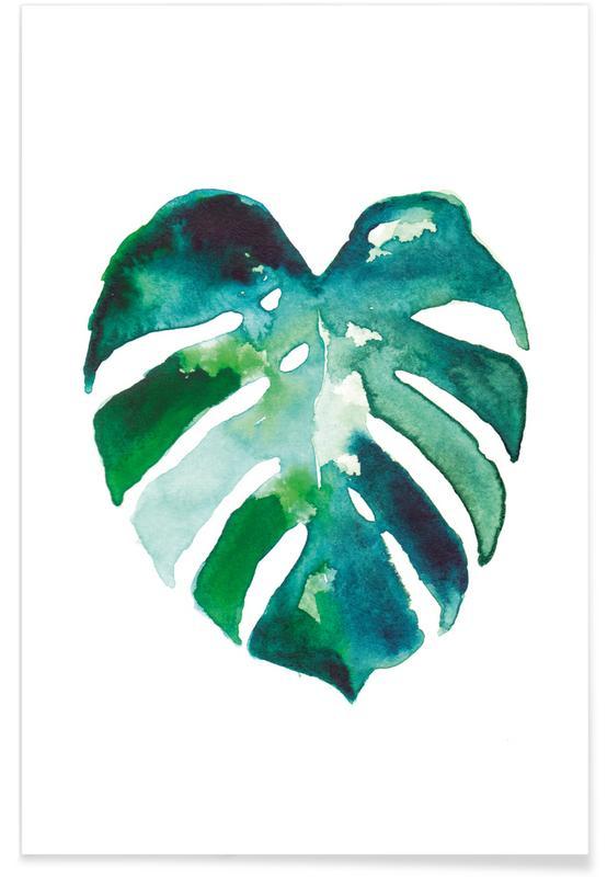 Leaves & Plants, Monstera Poster