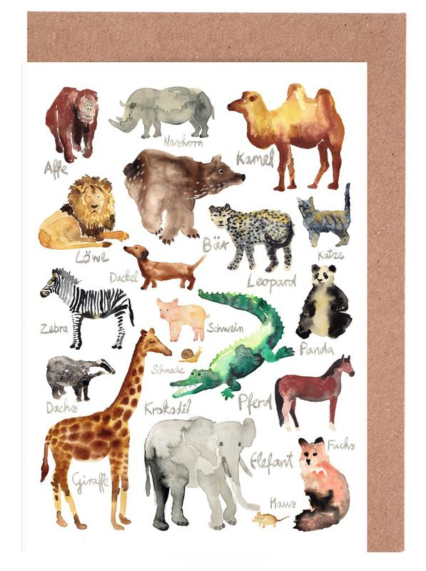 The Animal Kingdom Greeting Card Set