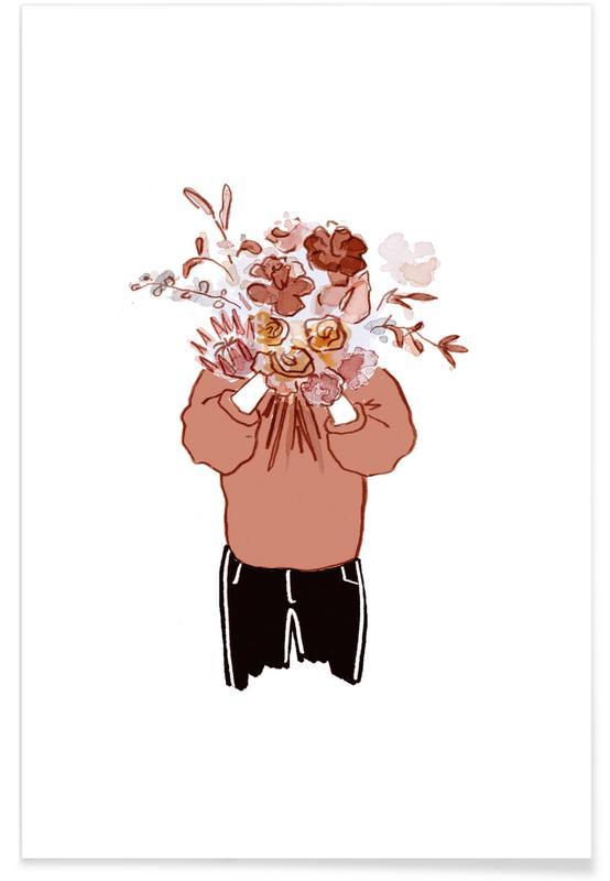 Portraits, Congratulations, Blumenfrau Poster