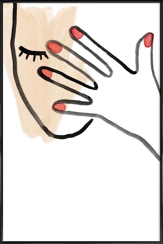 Hidden Face Framed Poster