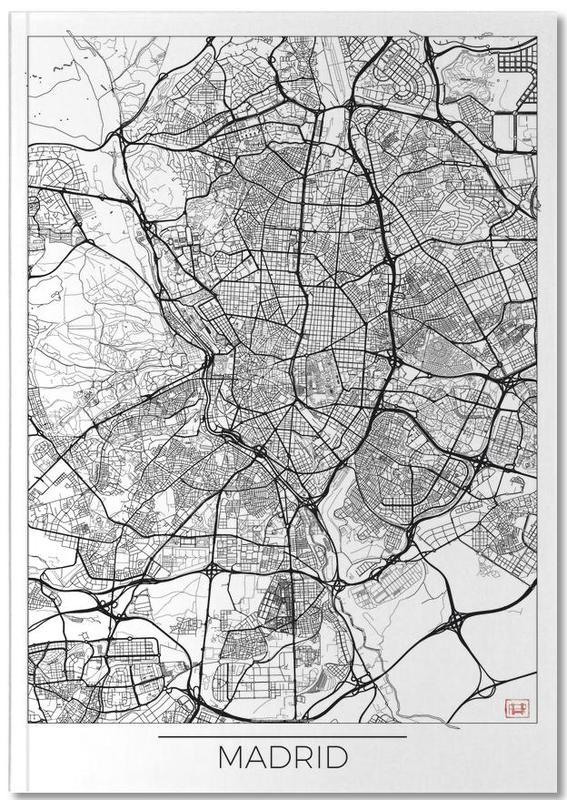 Cartes de villes, Madrid, Madrid Minimal Notebook