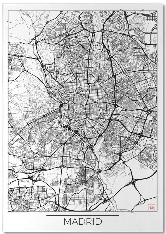 City Maps, Madrid, Madrid Minimal Notepad