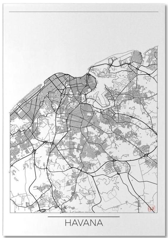 Cartes de villes, Havana Minimal bloc-notes