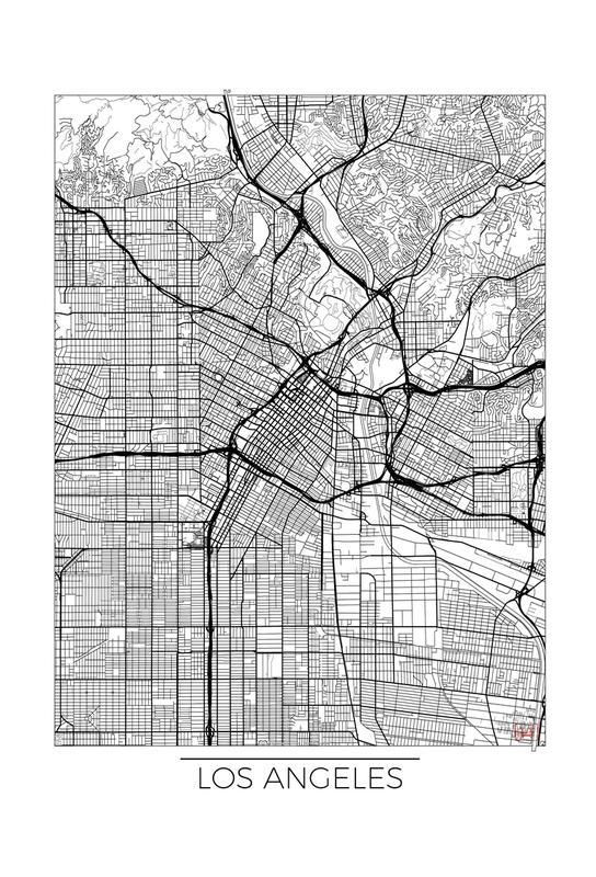 Los Angeles Minimal Aluminium Print