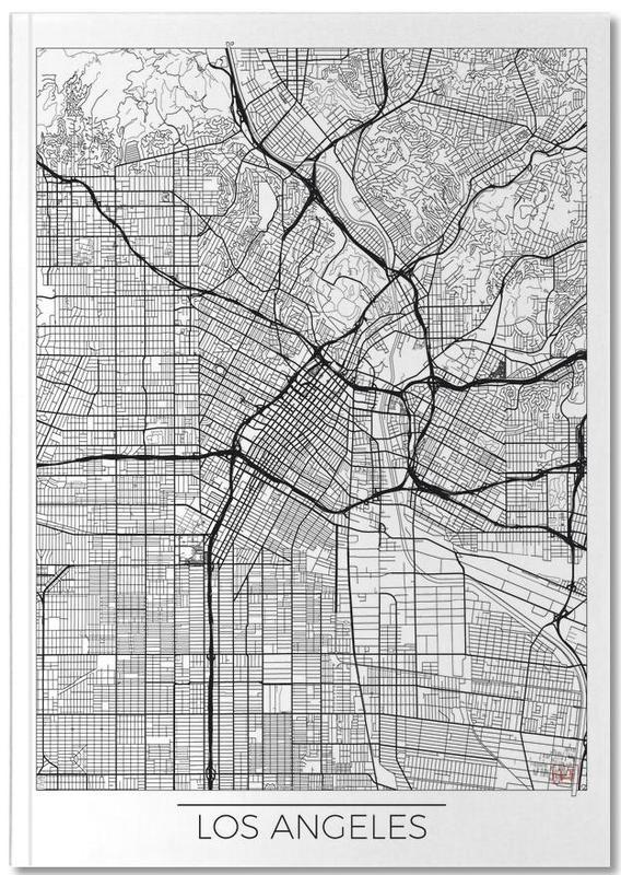 Cartes de villes, Los Angeles, Los Angeles Minimal Notebook