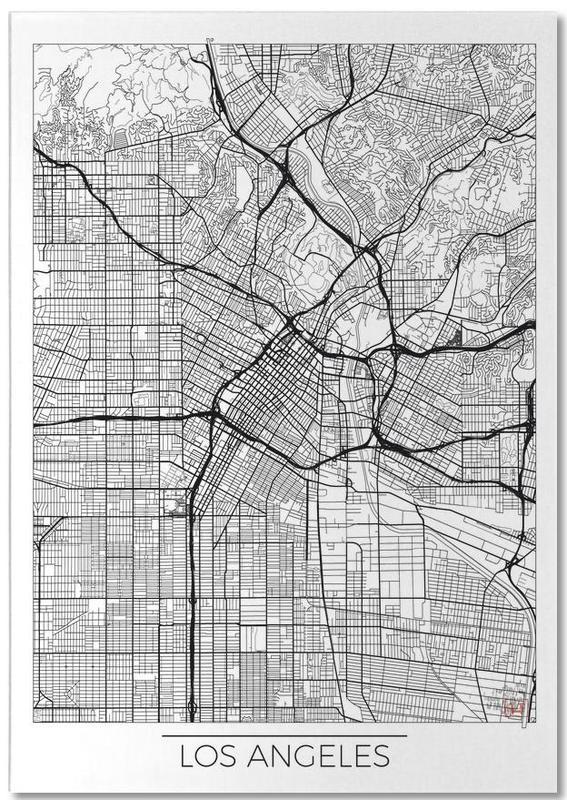 Cartes de villes, Los Angeles, Los Angeles Minimal bloc-notes