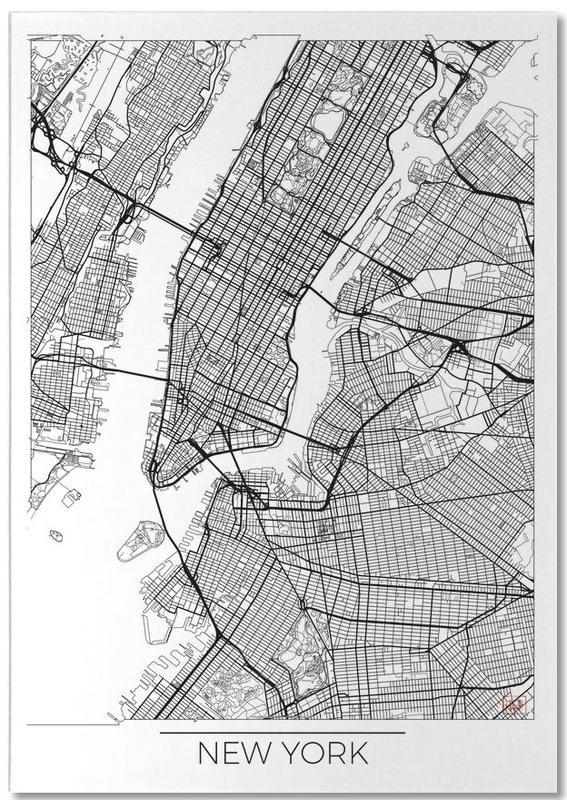 New York, Cartes de villes, New York Minimal bloc-notes