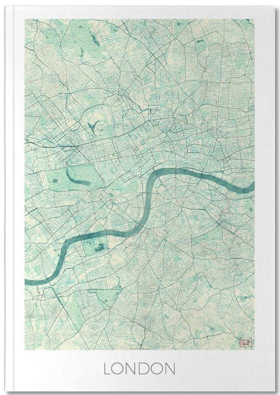 Londres, Cartes de villes, London Vintage Notebook
