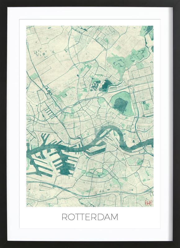 Rotterdam Vintage Framed Print