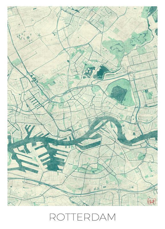 Rotterdam Vintage Canvas Print