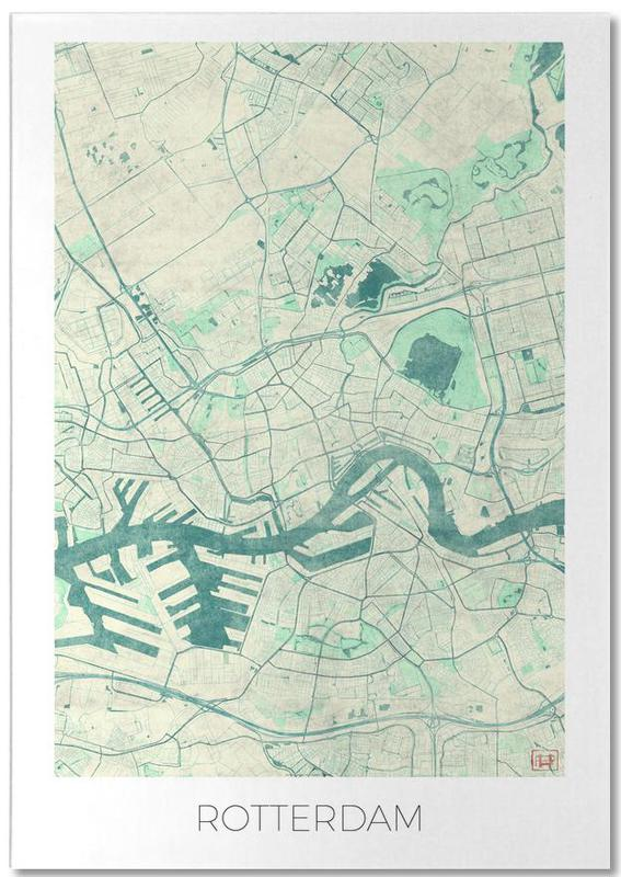 Cartes de villes, Rotterdam, Rotterdam Vintage bloc-notes