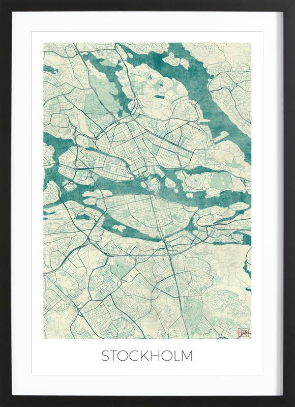 Stockholm Vintage Framed Print