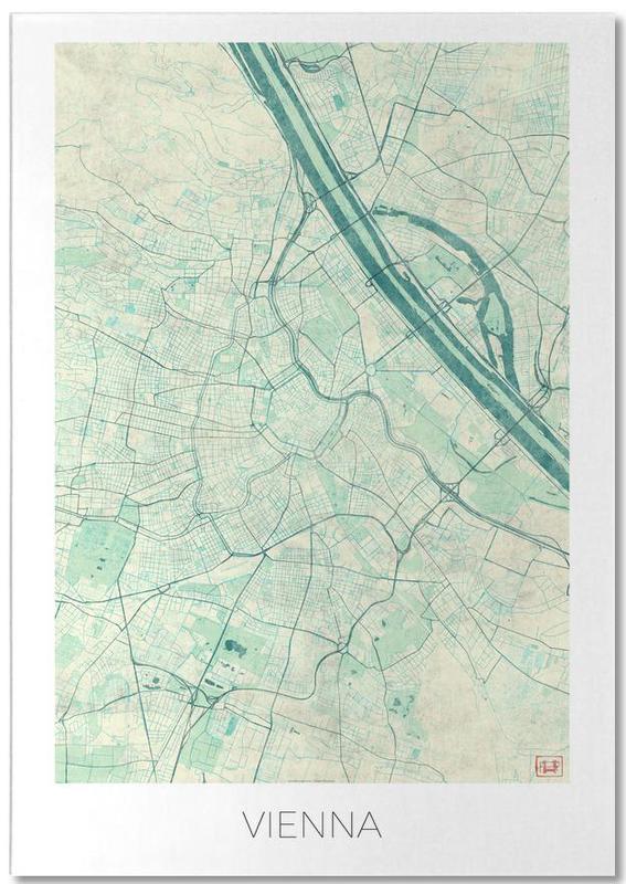 Vienne, Cartes de villes, Vienna Vintage bloc-notes