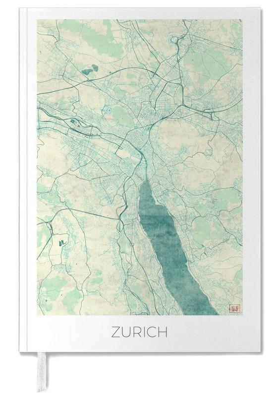 Zurich, City Maps, Zurich Vintage Personal Planner