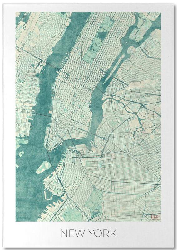 New York, Cartes de villes, New York Vintage bloc-notes