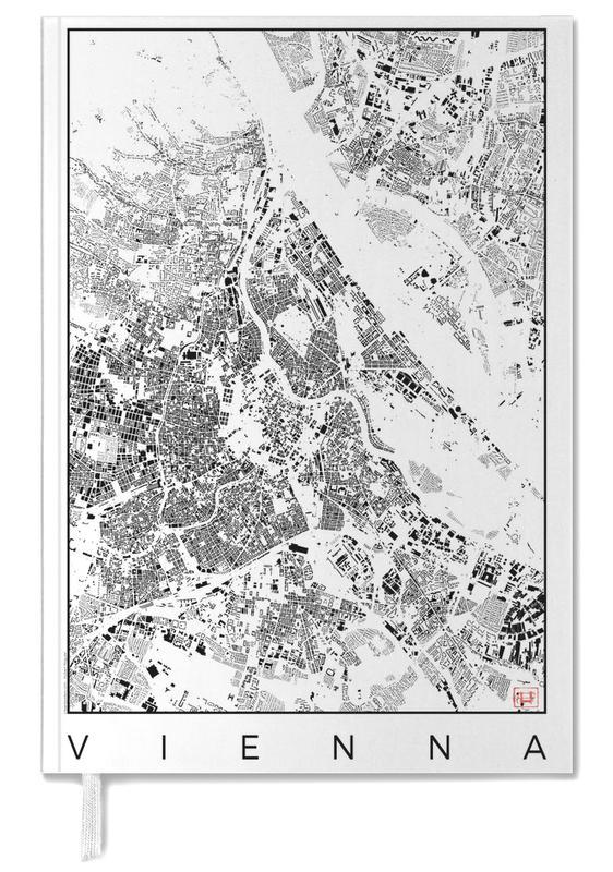 Vienne, Noir & blanc, Cartes de villes, Vienna Map Schwarzplan agenda