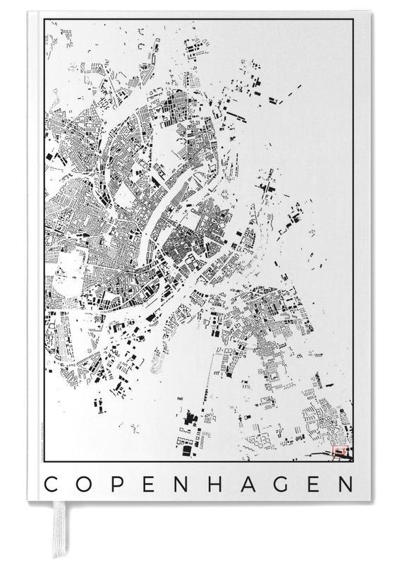 Copenhagen Map Schwarzplan -Terminplaner