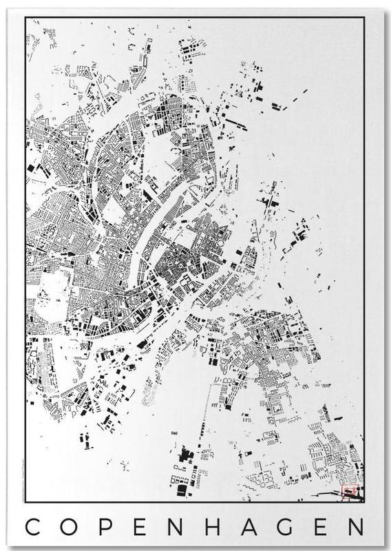 Copenhagen Map Schwarzplan Notepad