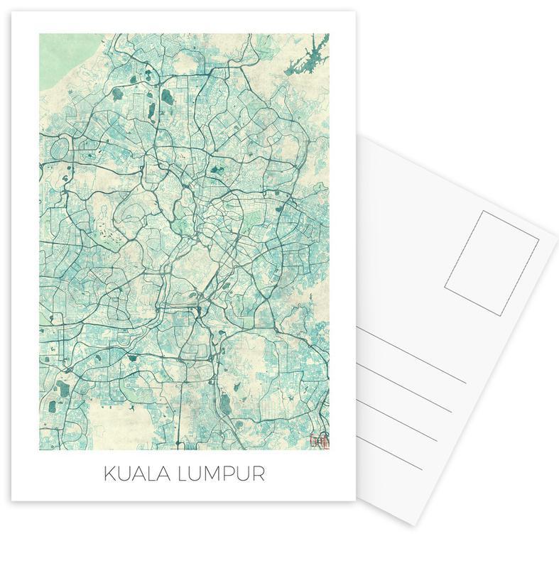Stadtpläne, Kuala Lumpur -Postkartenset