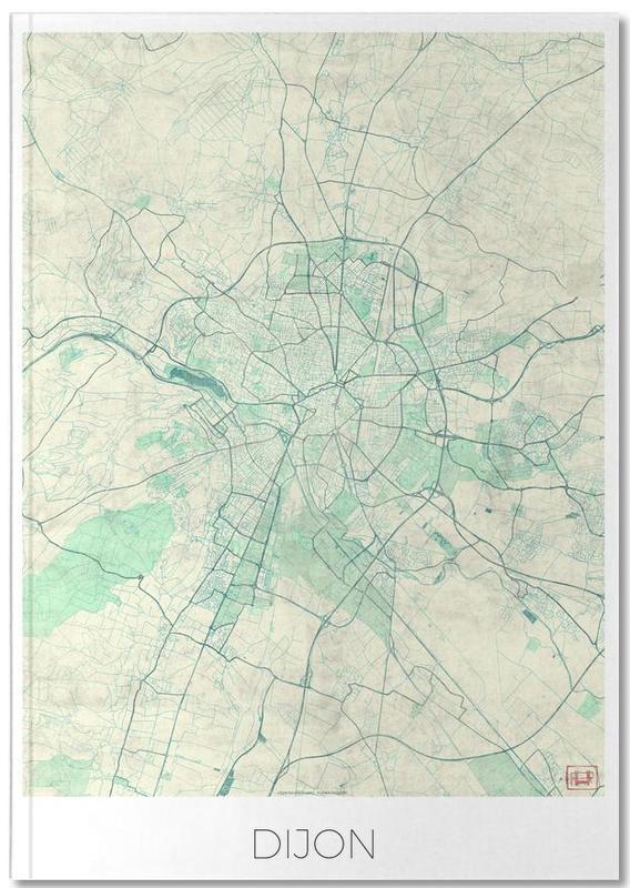 Cartes de villes, Dijon Vintage Notebook