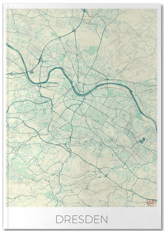 Cartes de villes, Dresden Vintage Notebook