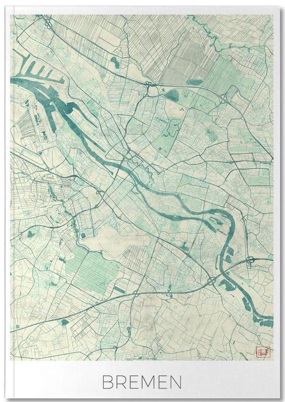 Cartes de villes, Bremen Vintage Notebook