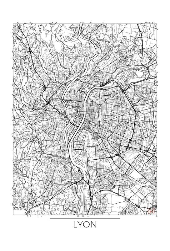 Lyon Minimal Impression sur alu-Dibond