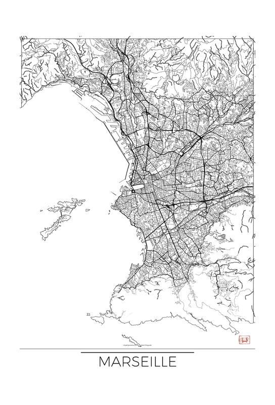 Marseille Minimal Impression sur alu-Dibond