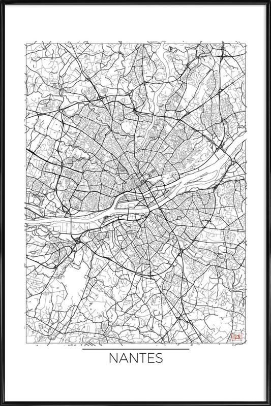 Nantes Minimal Framed Poster